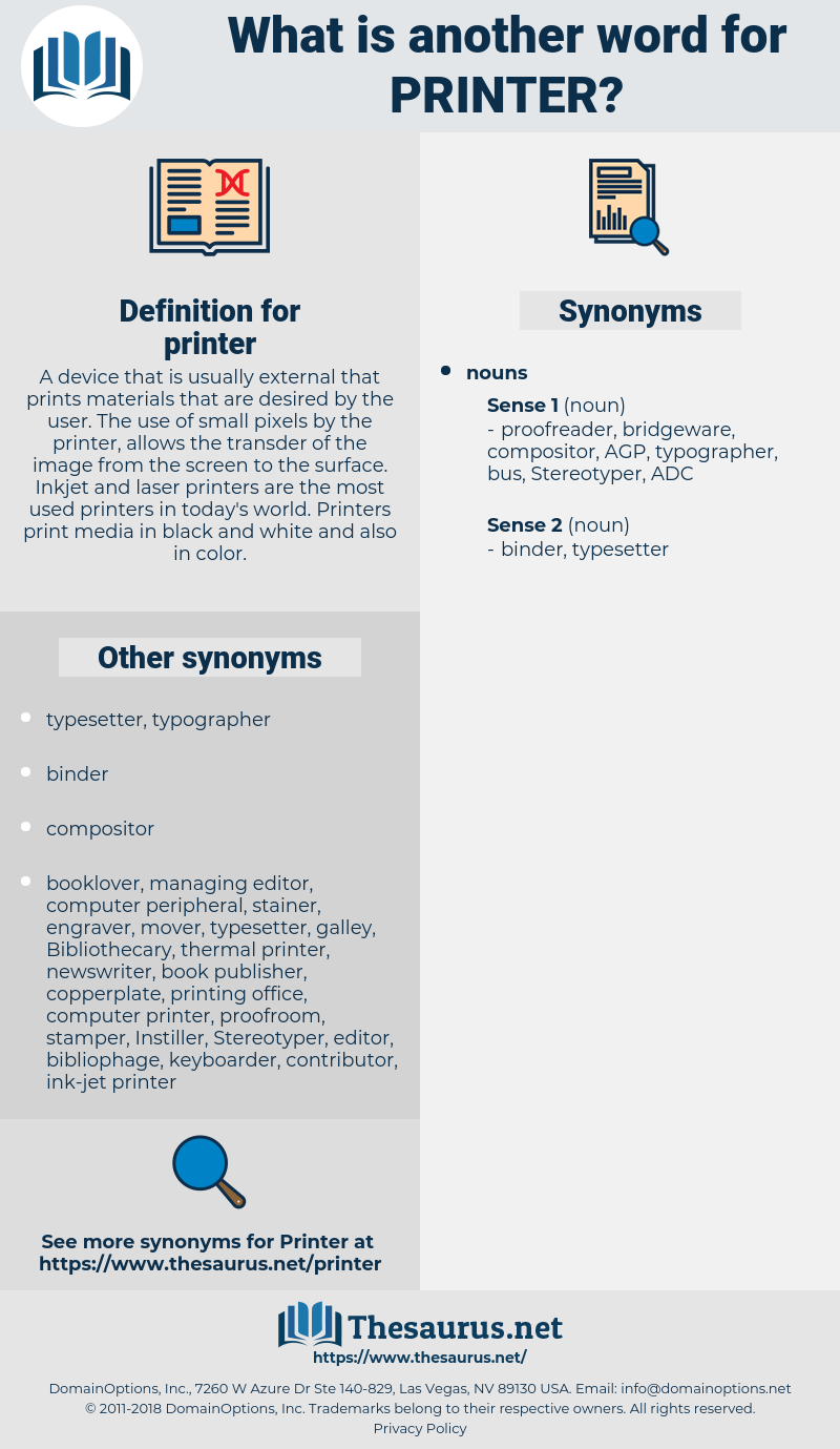 printer, synonym printer, another word for printer, words like printer, thesaurus printer