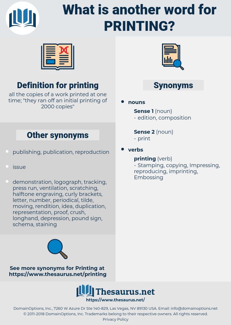 printing, synonym printing, another word for printing, words like printing, thesaurus printing