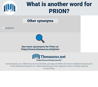 prion, synonym prion, another word for prion, words like prion, thesaurus prion