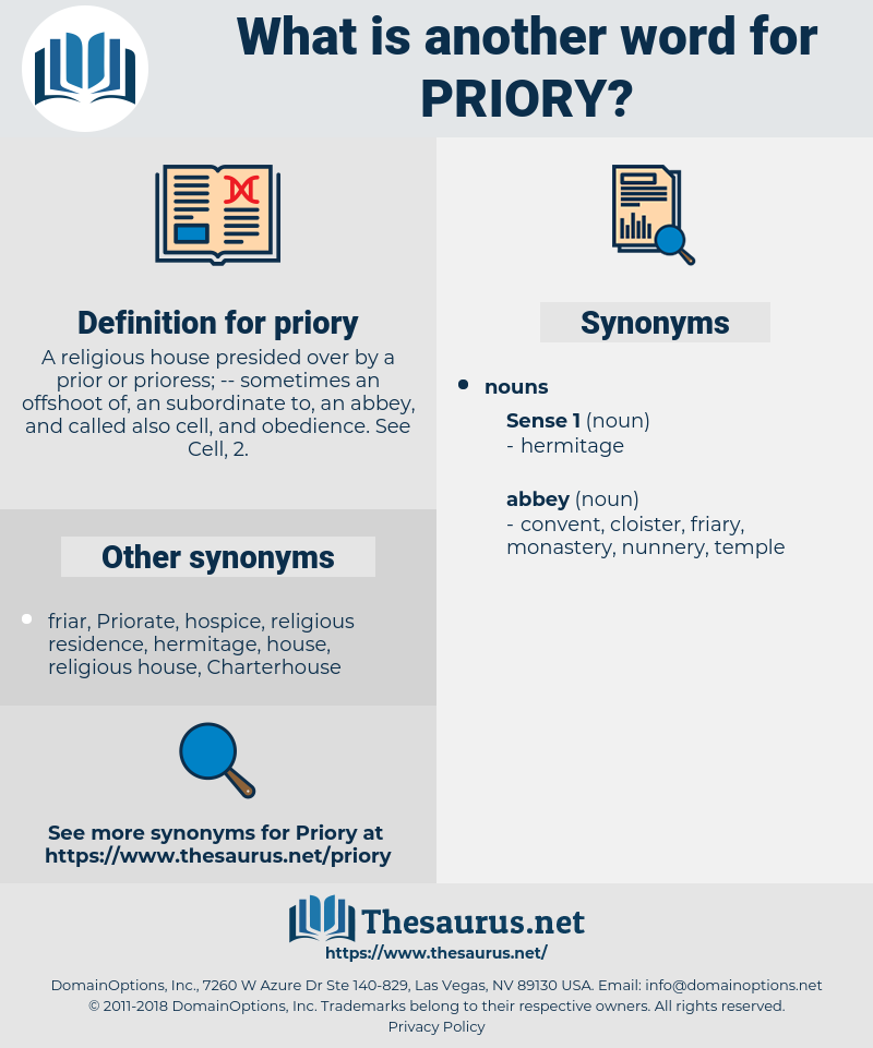 priory, synonym priory, another word for priory, words like priory, thesaurus priory