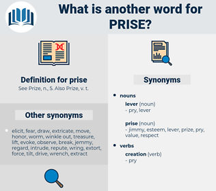 prise, synonym prise, another word for prise, words like prise, thesaurus prise
