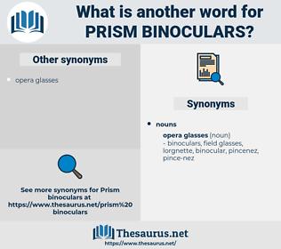 prism binoculars, synonym prism binoculars, another word for prism binoculars, words like prism binoculars, thesaurus prism binoculars