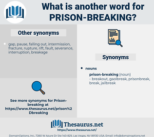 prison-breaking, synonym prison-breaking, another word for prison-breaking, words like prison-breaking, thesaurus prison-breaking