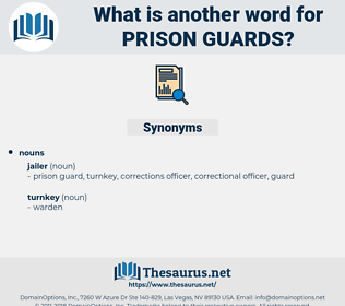 prison guards, synonym prison guards, another word for prison guards, words like prison guards, thesaurus prison guards