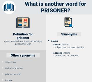 prisoner, synonym prisoner, another word for prisoner, words like prisoner, thesaurus prisoner