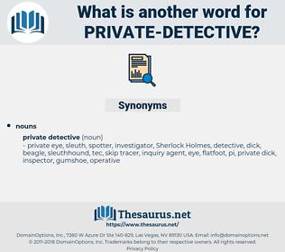private detective, synonym private detective, another word for private detective, words like private detective, thesaurus private detective
