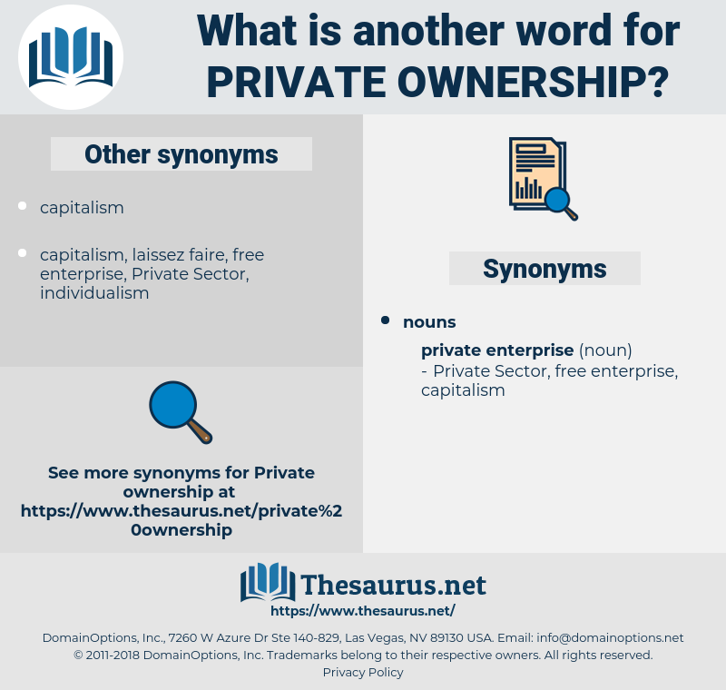 private ownership, synonym private ownership, another word for private ownership, words like private ownership, thesaurus private ownership