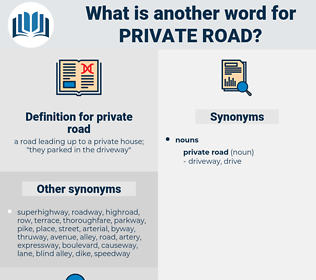 private road, synonym private road, another word for private road, words like private road, thesaurus private road