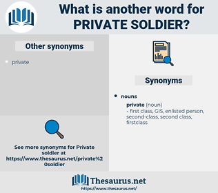 private soldier, synonym private soldier, another word for private soldier, words like private soldier, thesaurus private soldier