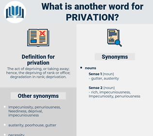 privation, synonym privation, another word for privation, words like privation, thesaurus privation