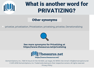privatizing, synonym privatizing, another word for privatizing, words like privatizing, thesaurus privatizing