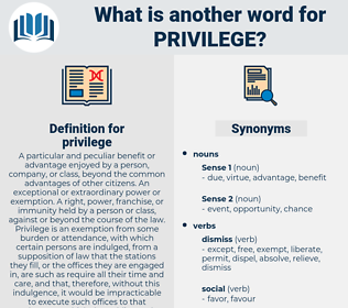 privilege, synonym privilege, another word for privilege, words like privilege, thesaurus privilege