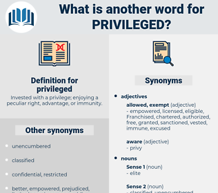 privileged, synonym privileged, another word for privileged, words like privileged, thesaurus privileged