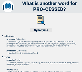 pro-cessed, synonym pro-cessed, another word for pro-cessed, words like pro-cessed, thesaurus pro-cessed