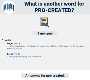 pro-created, synonym pro-created, another word for pro-created, words like pro-created, thesaurus pro-created