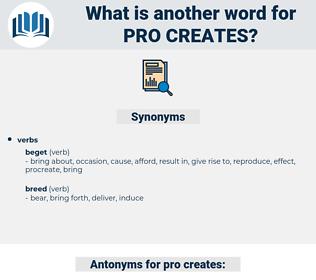 pro creates, synonym pro creates, another word for pro creates, words like pro creates, thesaurus pro creates