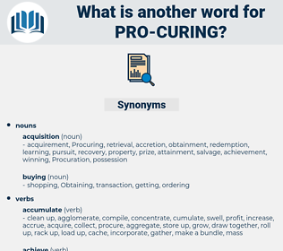 pro curing, synonym pro curing, another word for pro curing, words like pro curing, thesaurus pro curing
