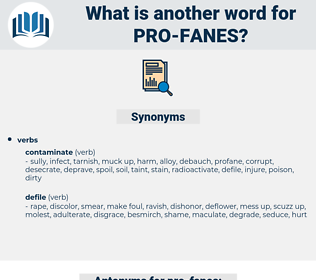 pro fanes, synonym pro fanes, another word for pro fanes, words like pro fanes, thesaurus pro fanes