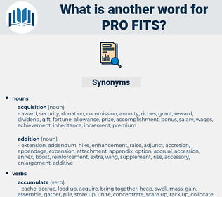 pro fits, synonym pro fits, another word for pro fits, words like pro fits, thesaurus pro fits
