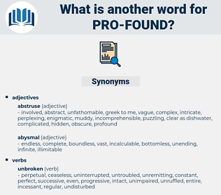 pro found, synonym pro found, another word for pro found, words like pro found, thesaurus pro found