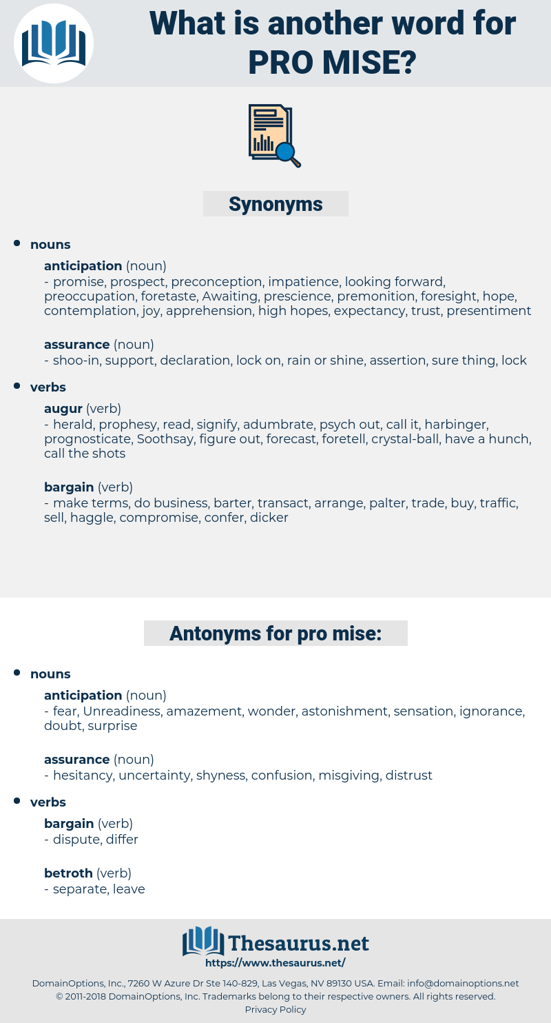 pro mise, synonym pro mise, another word for pro mise, words like pro mise, thesaurus pro mise