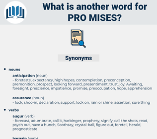pro mises, synonym pro mises, another word for pro mises, words like pro mises, thesaurus pro mises