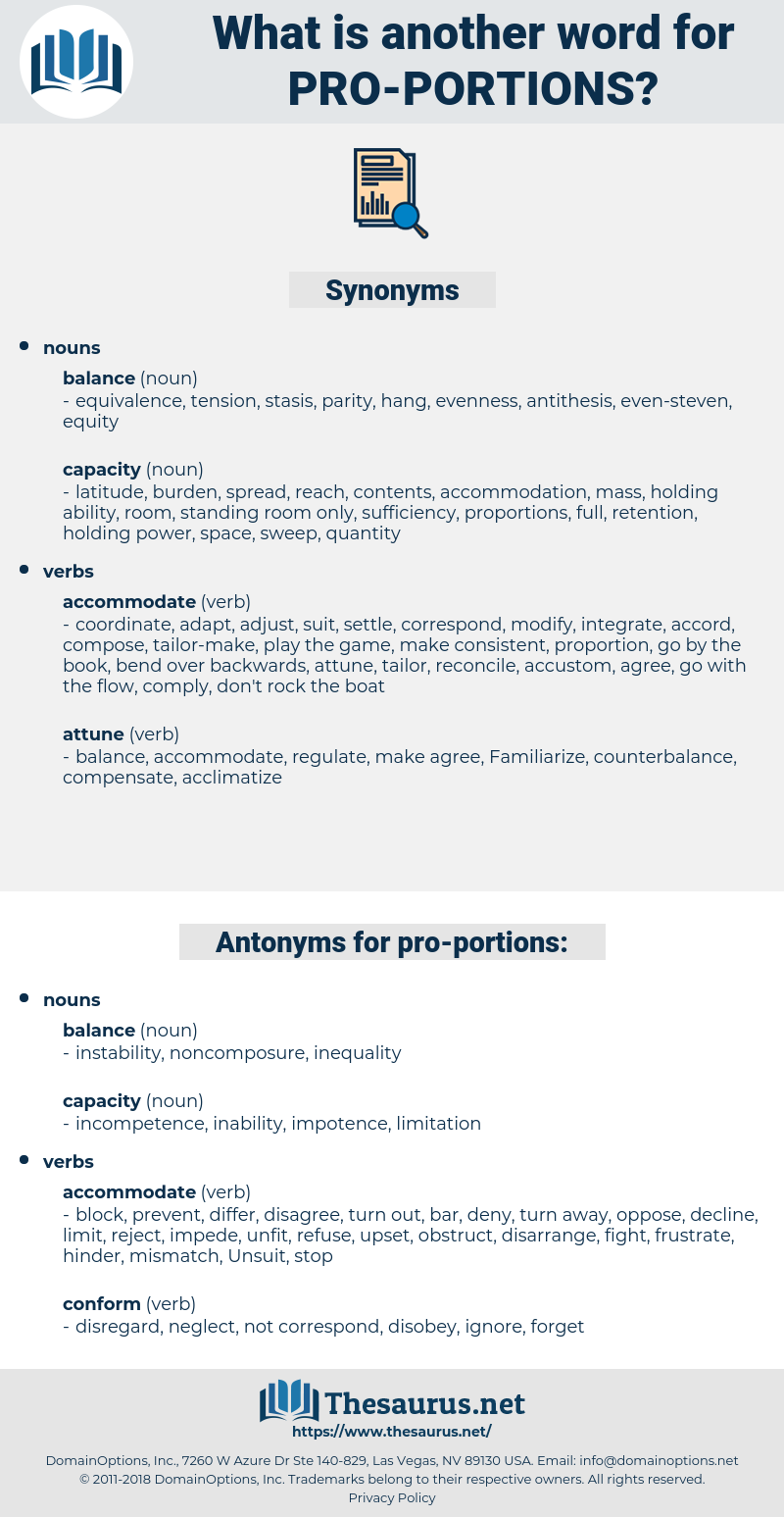 pro-portions, synonym pro-portions, another word for pro-portions, words like pro-portions, thesaurus pro-portions
