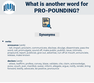 pro pounding, synonym pro pounding, another word for pro pounding, words like pro pounding, thesaurus pro pounding