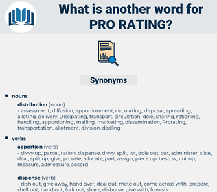 pro rating, synonym pro rating, another word for pro rating, words like pro rating, thesaurus pro rating