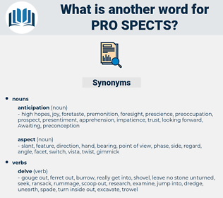pro-spects, synonym pro-spects, another word for pro-spects, words like pro-spects, thesaurus pro-spects
