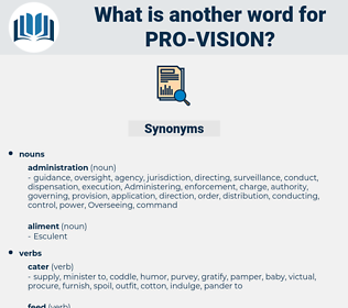 pro-vision, synonym pro-vision, another word for pro-vision, words like pro-vision, thesaurus pro-vision