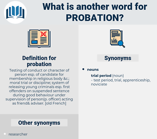 probation, synonym probation, another word for probation, words like probation, thesaurus probation