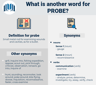 probe, synonym probe, another word for probe, words like probe, thesaurus probe