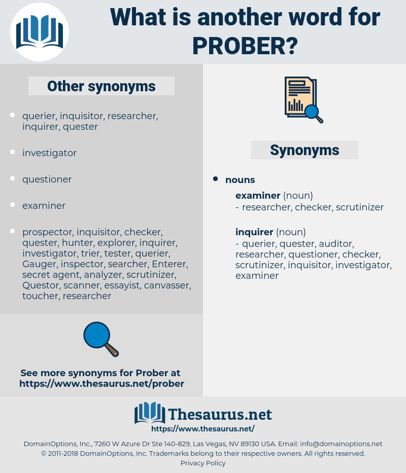 prober, synonym prober, another word for prober, words like prober, thesaurus prober