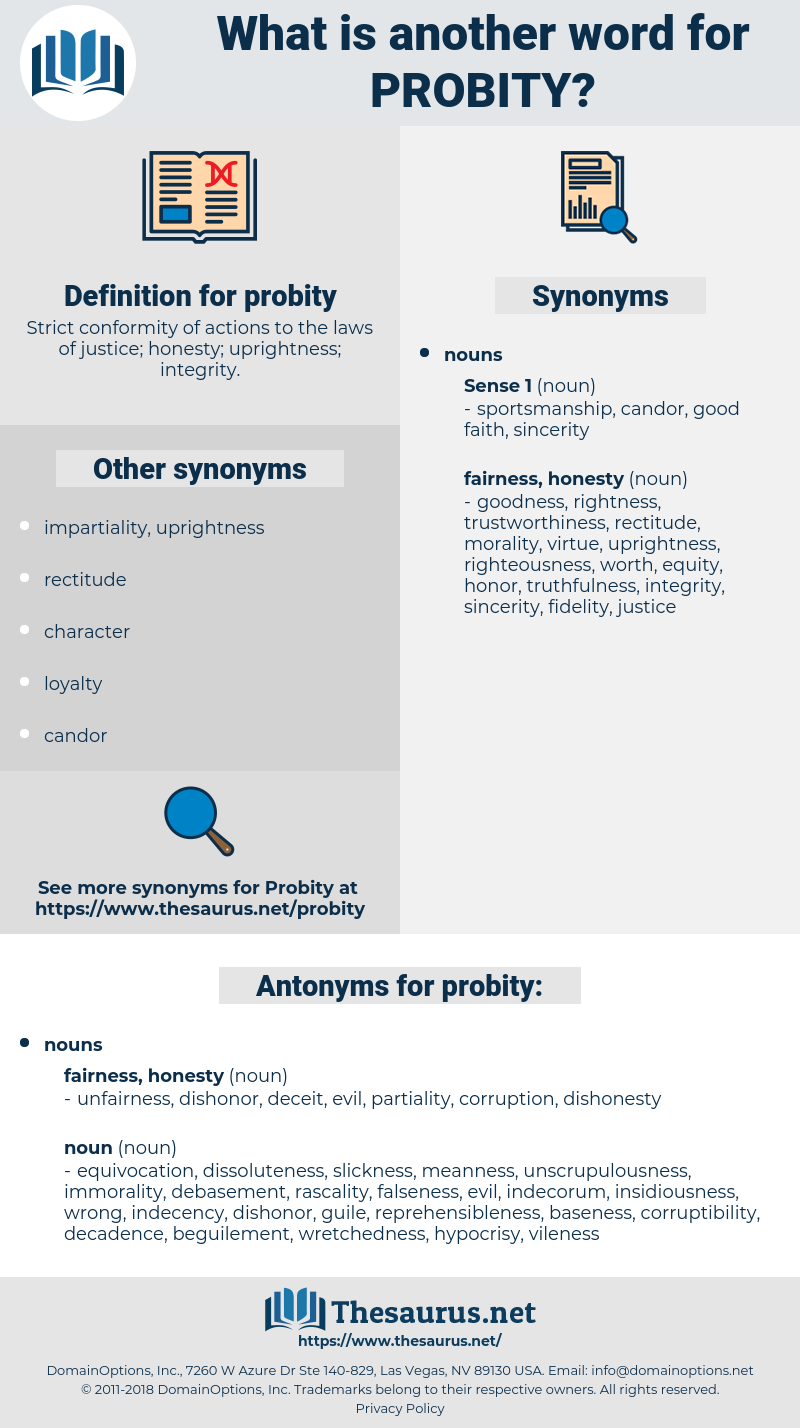 probity, synonym probity, another word for probity, words like probity, thesaurus probity
