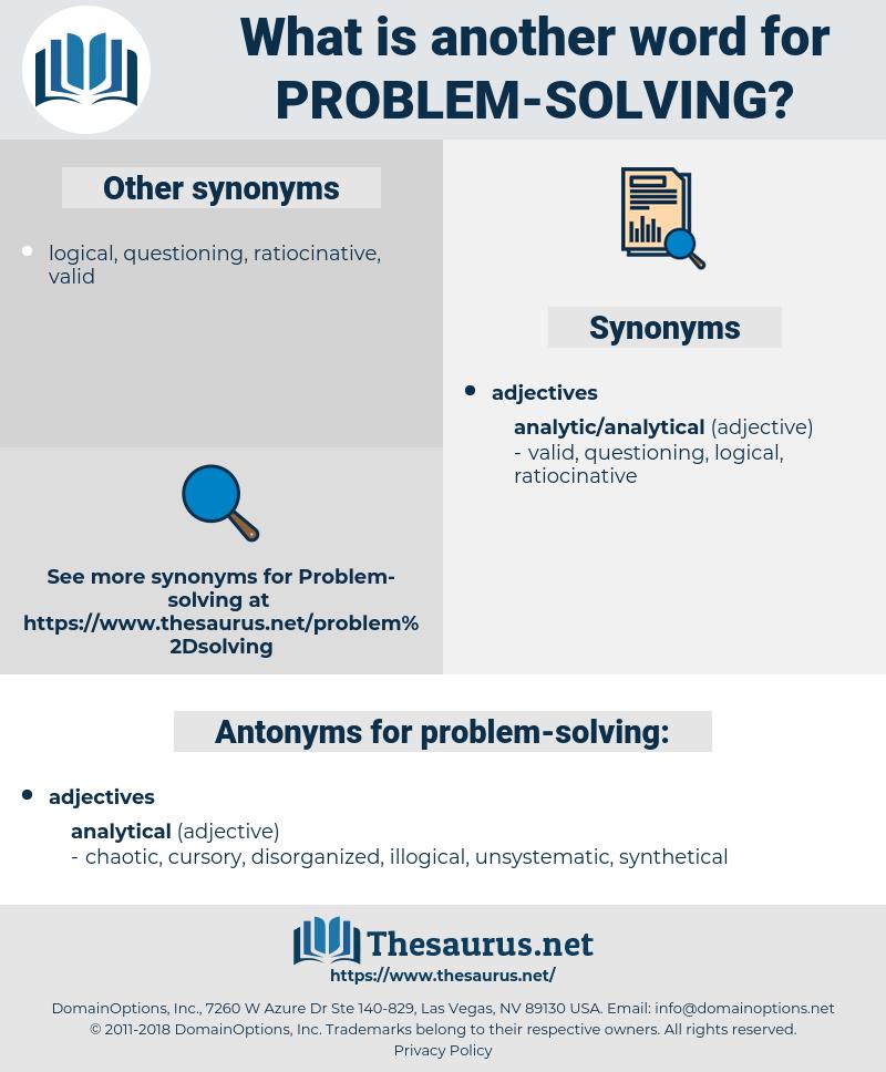 problem solving, synonym problem solving, another word for problem solving, words like problem solving, thesaurus problem solving