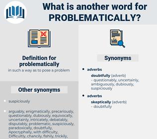 problematically, synonym problematically, another word for problematically, words like problematically, thesaurus problematically