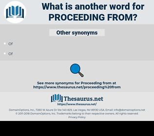 proceeding from, synonym proceeding from, another word for proceeding from, words like proceeding from, thesaurus proceeding from