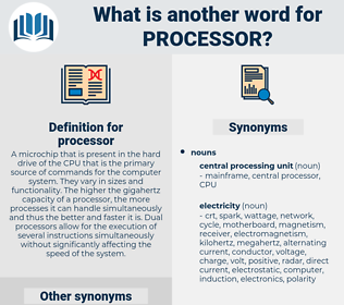 processor, synonym processor, another word for processor, words like processor, thesaurus processor