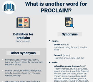proclaim, synonym proclaim, another word for proclaim, words like proclaim, thesaurus proclaim
