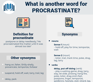 procrastinate, synonym procrastinate, another word for procrastinate, words like procrastinate, thesaurus procrastinate