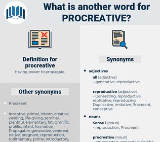 procreative, synonym procreative, another word for procreative, words like procreative, thesaurus procreative