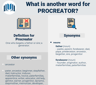 Procreator, synonym Procreator, another word for Procreator, words like Procreator, thesaurus Procreator