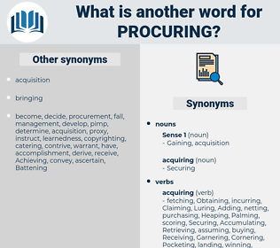 Procuring, synonym Procuring, another word for Procuring, words like Procuring, thesaurus Procuring