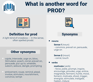 prod, synonym prod, another word for prod, words like prod, thesaurus prod
