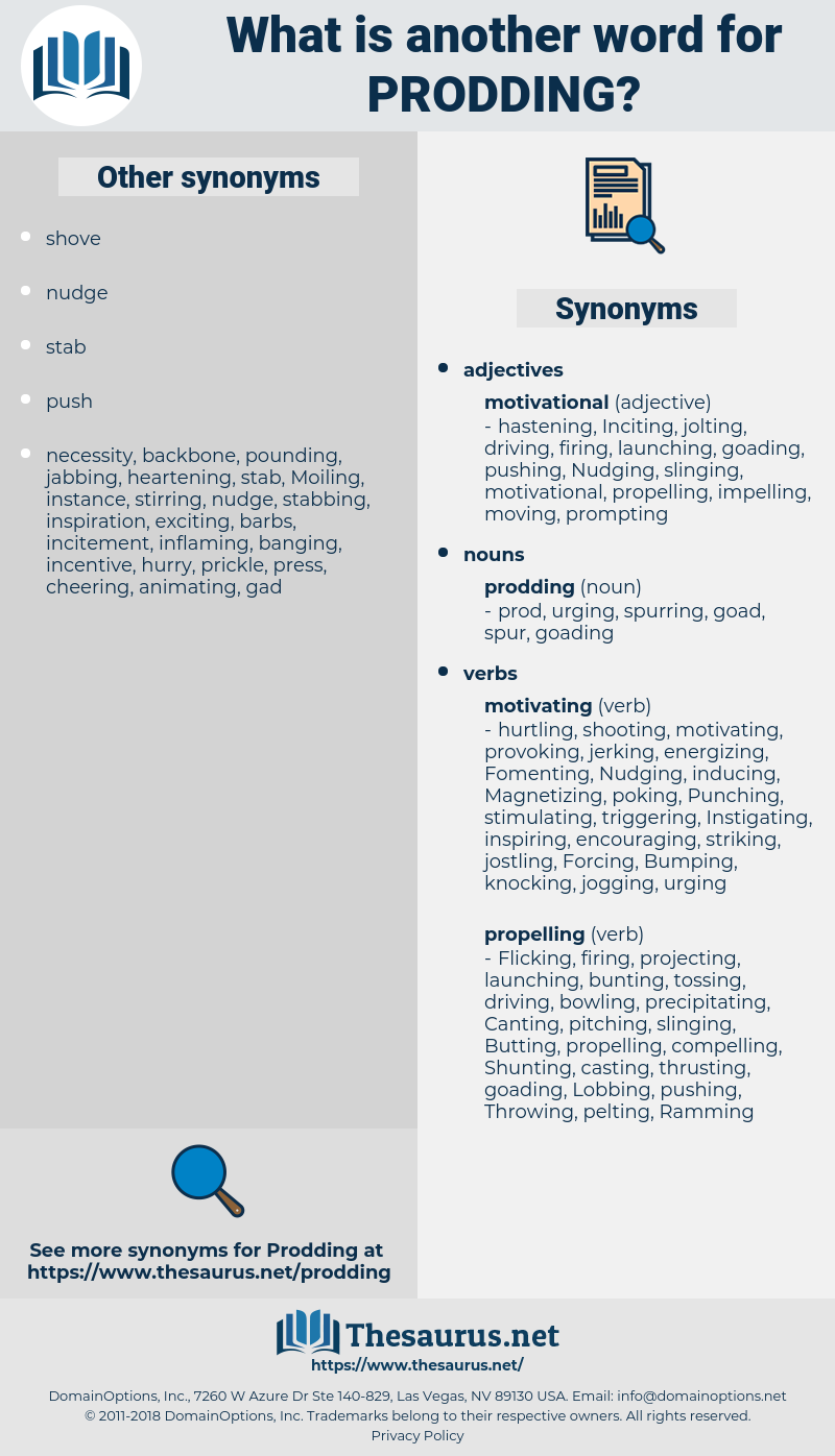 prodding, synonym prodding, another word for prodding, words like prodding, thesaurus prodding
