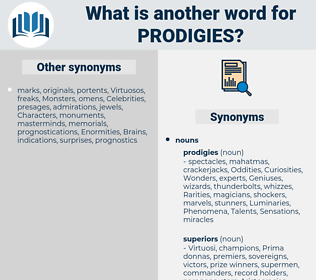 Prodigies, synonym Prodigies, another word for Prodigies, words like Prodigies, thesaurus Prodigies