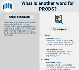 prods, synonym prods, another word for prods, words like prods, thesaurus prods