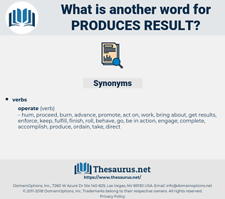 produces result, synonym produces result, another word for produces result, words like produces result, thesaurus produces result