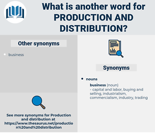 production and distribution, synonym production and distribution, another word for production and distribution, words like production and distribution, thesaurus production and distribution